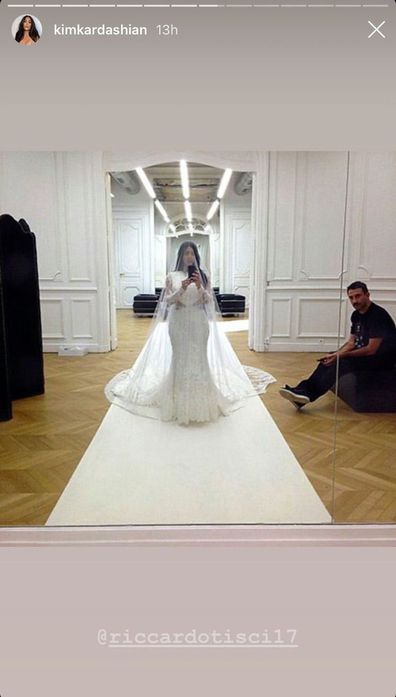 Kim Kardashian, wedding photos, Instagram