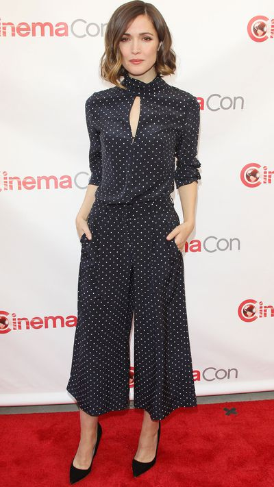The actress supports homegrown design talent in this wide-legged jumpsuit by Zimmermann. <br>