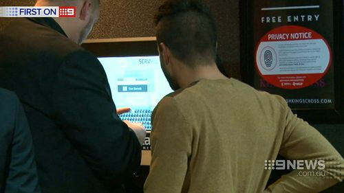 Patrons are required to hand over photo ID on entry. (9NEWS)