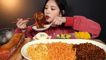 Mukbang is the popular video trend of eating vast quantities of food on camera.