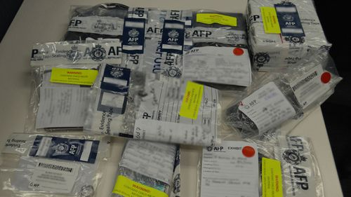 Evidence seized during an arrest at Wyong, on the NSW Central Coast.
