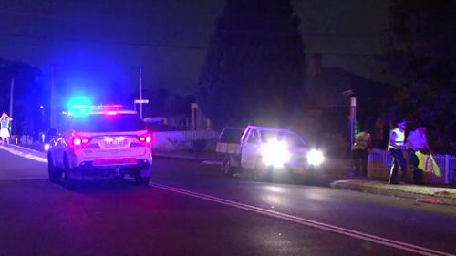 Police at the scene in Guildford. (9NEWS)