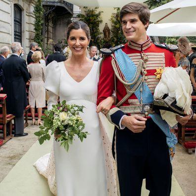 Carlos Fitz-James Stewart y Belén Corsini celebran su boda en el Palacio de Leiria el 22 de mayo de 2021 en Madrid, España.