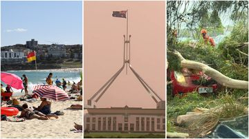 Australia has seen extreme weather contrasts throughout the day.