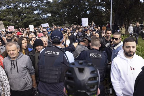 Sydney lockdown protests