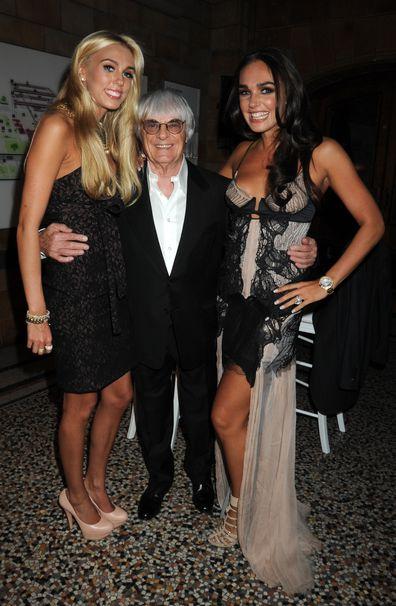 Bernie Ecclestone, daughter, Tamara Ecclestone, Petra Ecclestone, Formula One party, 2010