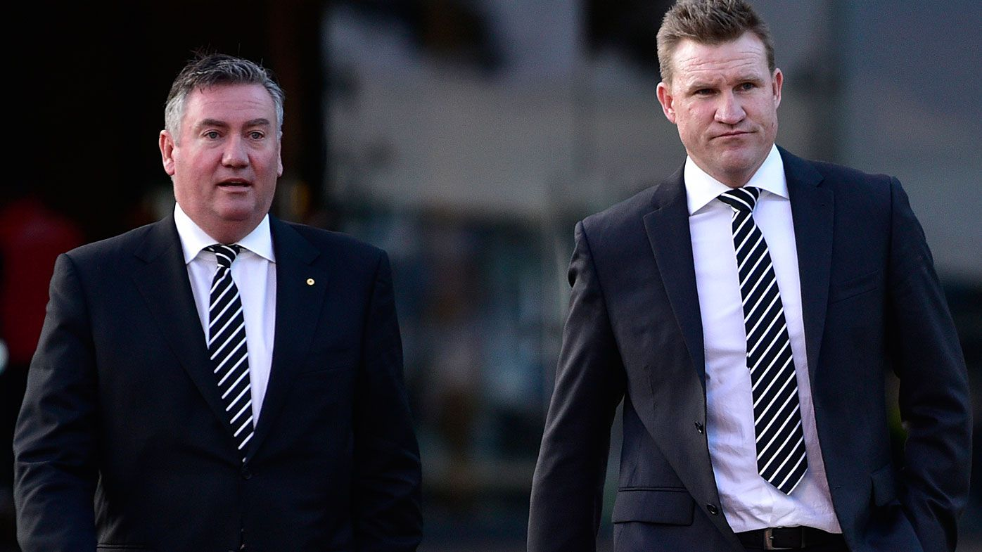 Collingwood coach Nathan Buckley at odds with Eddie McGuire over AFL final