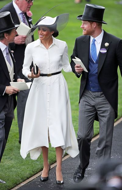 Meghan Markle in Givenchy at the Royal Ascot Races, June, 2018