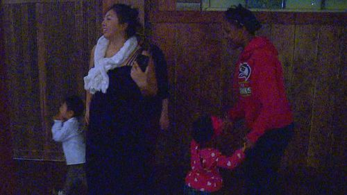 Up to 100 homeless children and their families attended the dinner. (KOMO)
