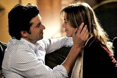 """<i>Grey's Anatomy</i> opened with Meredith (Ellen Pompeo) shagging Derek (Patrick Dempsey), so they got that out of the way early on. Problem was, the couple — dubbed """"Mer-Der"""" by diehards — dated, and then they broke up, and then they dated again, and then they broke up again. Even the writers got bored of the cycle and hooked them up for good at the end of season four. <I>Finally</I>."""