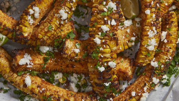 Viral TikTok food trend - corn ribs.