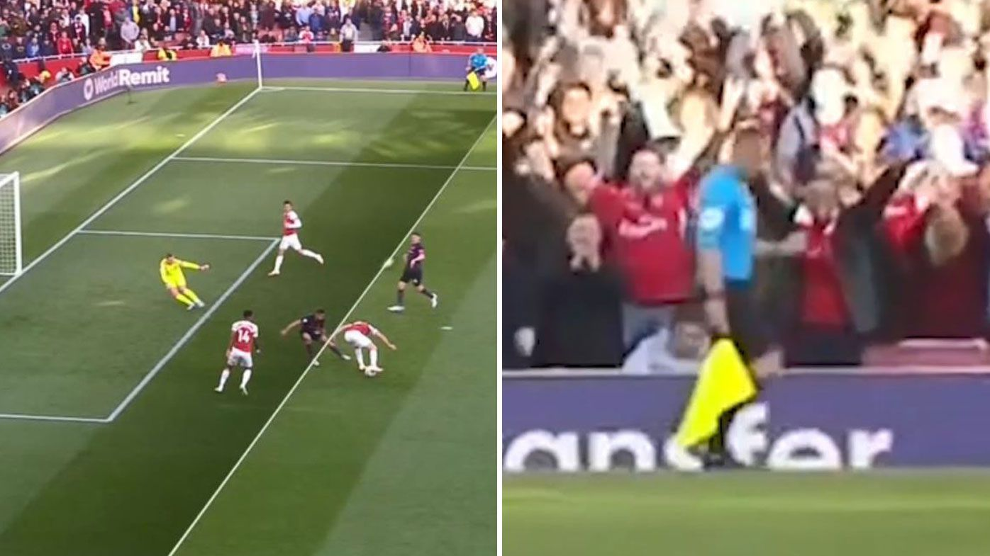 EPL: Linesman in hot water after appearing to celebrate offside Arsenal goal