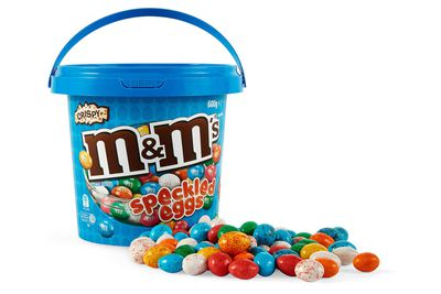 M&Ms speckled eggs: 32 minutes weight-lifting