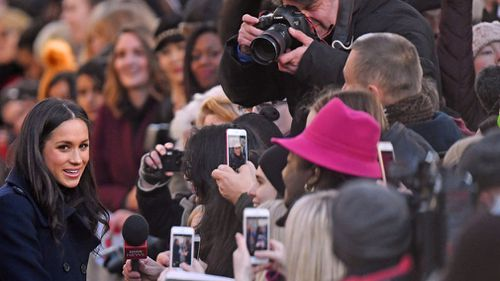 Hundreds of people flocked to Nottingham to meet the pair. (AAP)