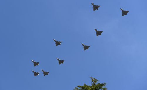 There was a massive fly-past over Buckingham Palace. Picture: AAP