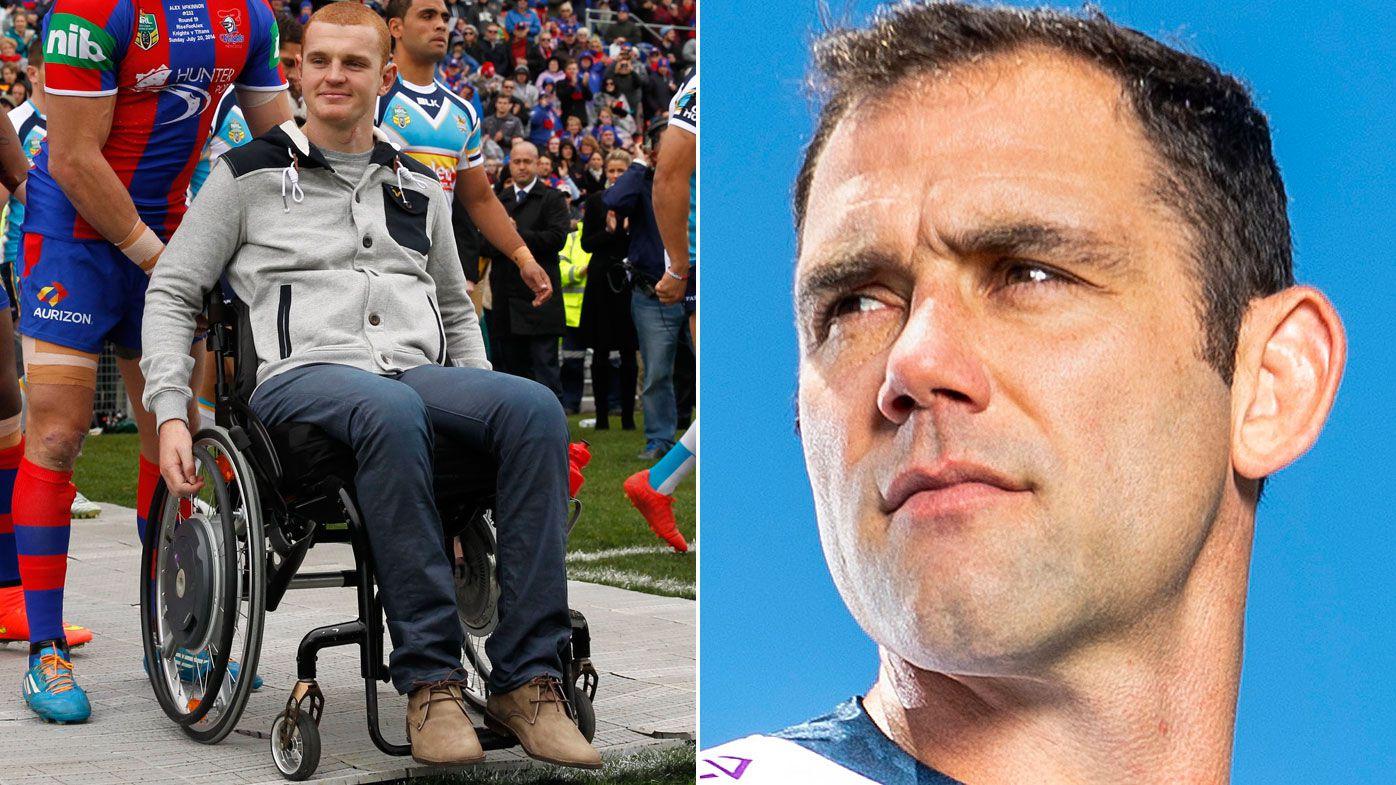 Alex McKinnon has forgiven Cameron Smith for his reaction after paralysing tackle