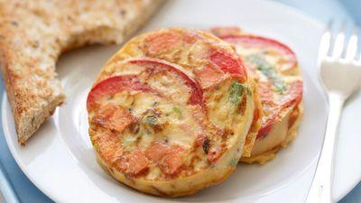 "Recipe:&nbsp;<a href=""http://kitchen.nine.com.au/2016/05/16/12/08/mini-kumara-frittatas"" target=""_top"">Mini kumara frittatas</a>"