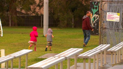 Seven of the eight children walked away with Brett and out of their parent's sight (9NEWS)