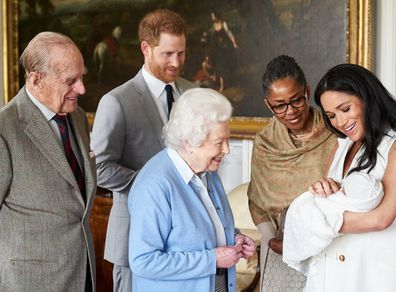 Doria arrived in the UK three weeks ahead of the birth of her first grandchild.