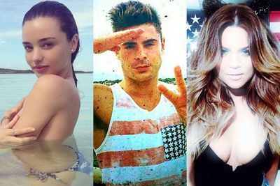 <br/>Our fave celebs sure know how to celebrate the 4th of July... by flashing their cleavage and partying with their celeb pals. <br/><br/>The thing we love most about these Tinseltowners, is that in between sipping cocktails and swimming in their super-luxe pools, they have enough time to fill our social media feeds with their star-studded selfies. <br/><br/>From Zac Efron's ab-tastic salute to Miranda Kerr's sultry snap, check out how Hollywood celebrated independence day...