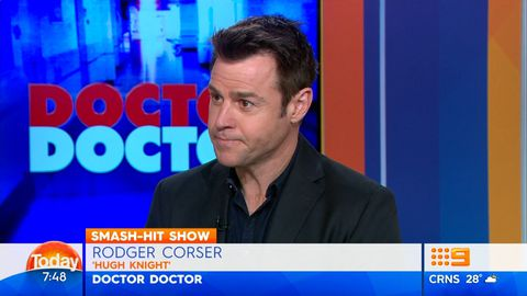 Lisa Wilkinson asks Rodger Corser to kiss her sore arm better