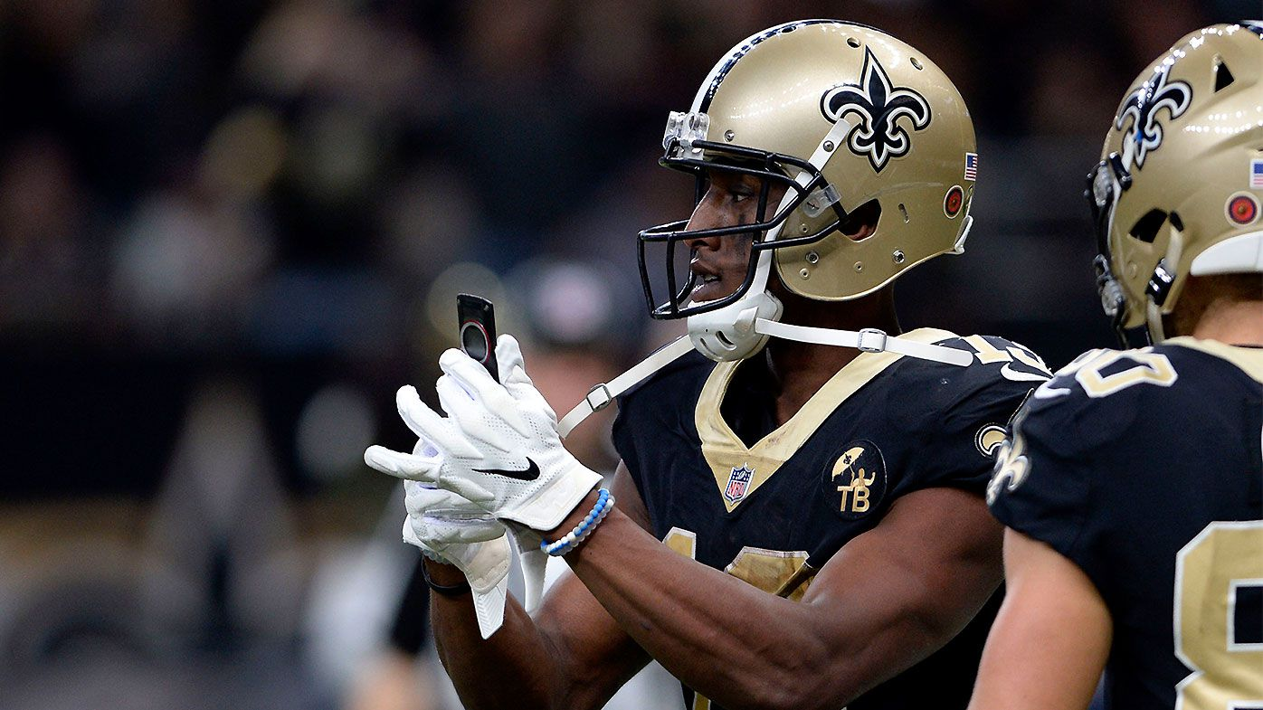 Michael Thomas brings out legendary celebration as Saints end Rams unbeaten streak
