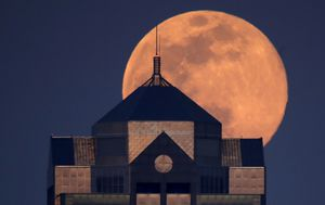 IN PICTURES: April's rare pink supermoon 2020