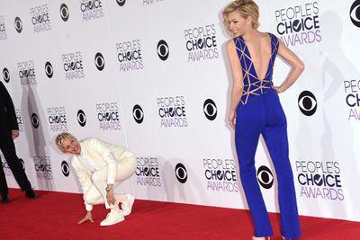 Ellen DeGeneres mucks around with wife Portia de Rossi.