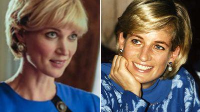 Actress shows eerie similarity to Diana in Prince Harry romance film