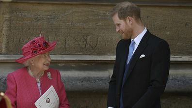 Harry and Queen talking