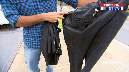 The victim's clothing was torn in the attack.