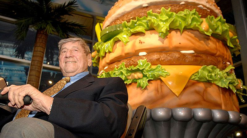 "Michael ""Jim"" Delligatti  got permission to try his new burger in 1967 and sales jumped 12 percent. (AAP)"