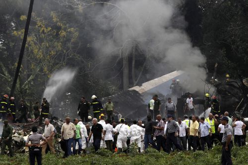 A Boeing 737 operated by state airline Cubana has crashed after take-off.