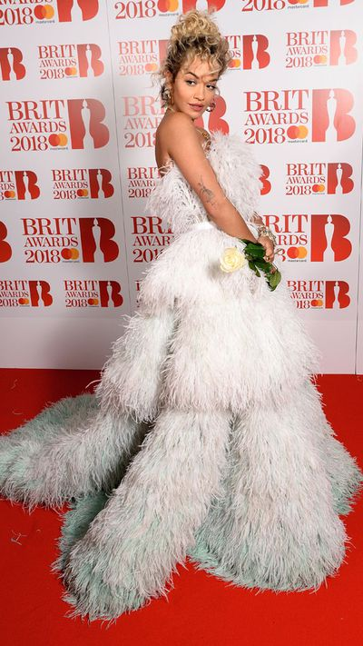Rita Ora in Ralph & Russo at the 2018 Brit Awards
