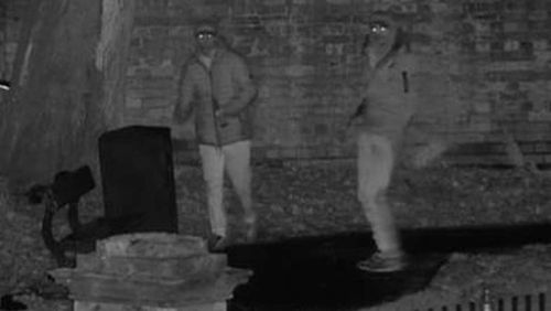 CCTV image of two men wanted in relation to the attack.