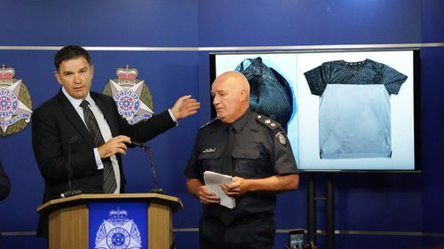 Police have released images of clothing found less than 100 metres away from Maasarwe's body.