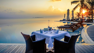 Kuredu Maldives sunset dinner
