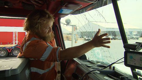 Andrew Martin was driving his truck from Melbourne to Adelaide when the incident unfolded.