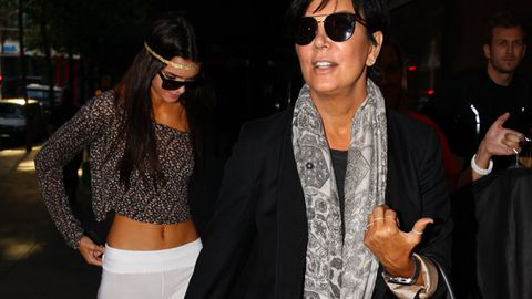 Kardashian mum Kris Jenner and daughter Kendall arrive in Sydney
