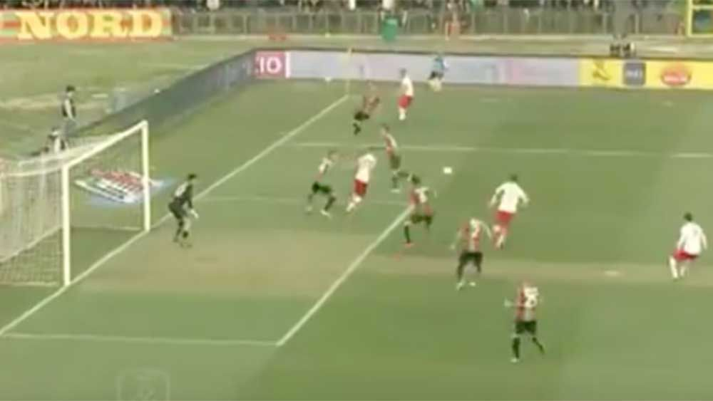 Football: Italian striker stuns with sublime spinning back-heel volley