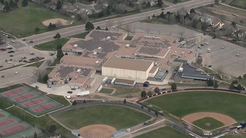 US high schools lockdown Columbine High School FBI police hunting teen woman threats