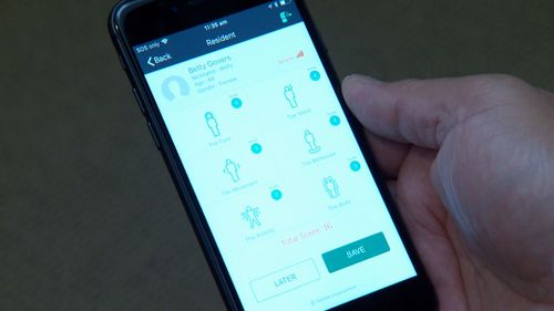 A new app called 'painchek' set to revolutionise the way dementia sufferers are cared for. Picture: 9NEWS