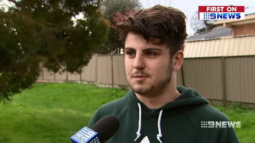 A 21-year-old man has fought off alleged early morning car thieves - while wearing only his underwear.