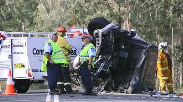 Woman trapped next to husband's body for hours after crash