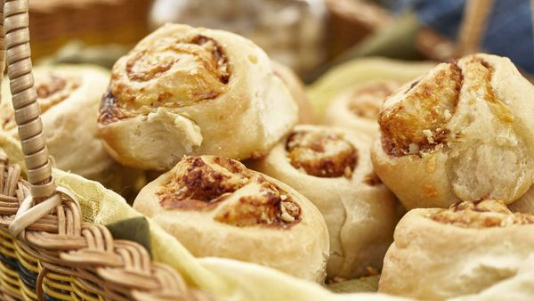 Macadamia and Vegemite scrolls