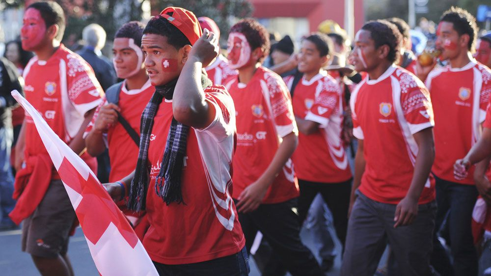 'Give us our win': Tongan fans protest after loss to England at Rugby League World Cup