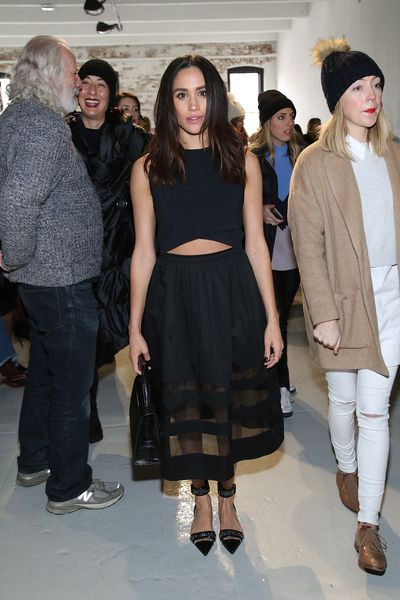 Megan Markle at the Misha Nonoo fashion show during Mercedes-Benz Fashion Week 2015 in New York City