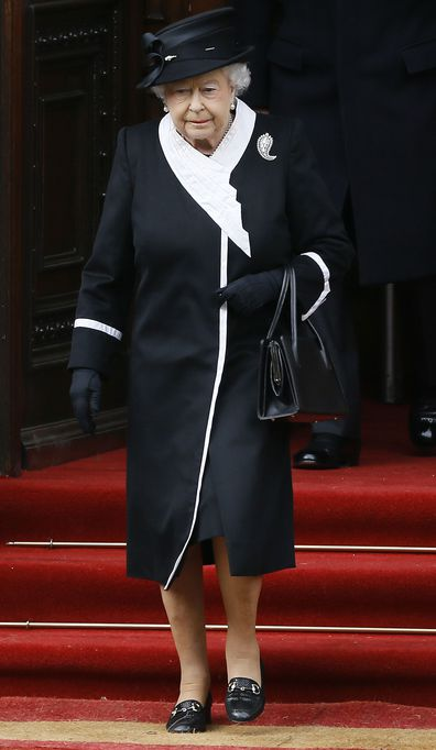 The Queen has missed the ANZAC Day service to attend the funeral of her close friend Jeanie, Countess of Carnarvon.