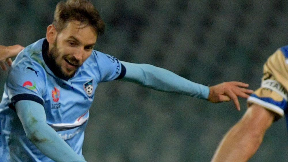 Sydney FC key man Milos Ninkovic suffered an ankle injury. (AAP)