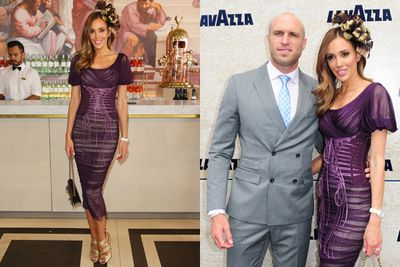 Carlton footy player Chris Judd and wife Rebecca Judd dressed to impress.<br/><br/>Image: AAP
